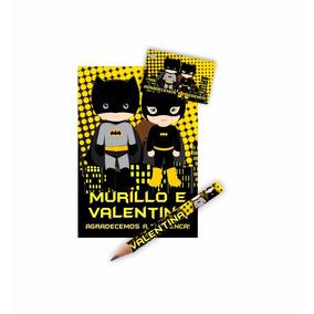 Kit Bloquinho + Mini Lápis Tag Personalizado Lembrança 80un