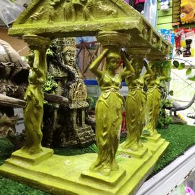 Ruina Griega Figura De Resina Para Acuario De 30x25
