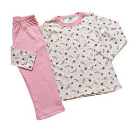 Pijama Infantil Colorido Longo Frio Inverno Menina
