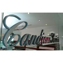 Letras 3d Corporeas Logo Anuncio En Aluminio Espejo Plata