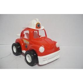 Vocho Vw Beetle Bomberos - Camioncito Juguete Carrito Escala
