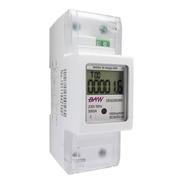 Medidor Digital Energía Activa Monofásico 2 Módulos Din Baw