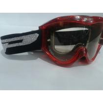 Oculos Trilha Cross Moto Progrip Vermelho Com Tiras Pretas