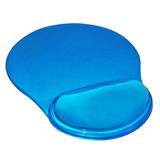 Pad Mouse Ergonómico En Silicona Transparente Star Tec, Azul