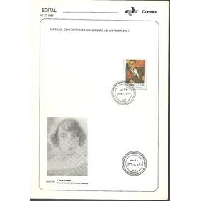 Edital Correios N.27 1989 Cent. Do Nasc. De Anita Malfatti