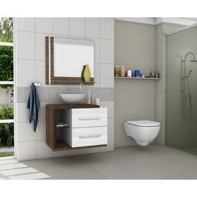 Gabinete/armário Banheiro Kit Completo Milão Branco/avelã