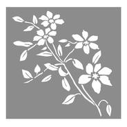 Las Lupes - Stencil Flor En Ramas - 30 X 30cm