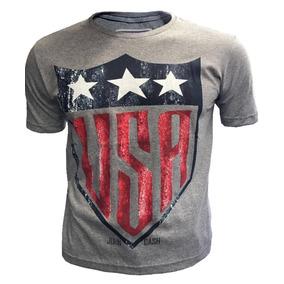 Camiseta Camisa Blusa Malha Masculina Estados Unidos