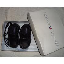 Zapato Negro Niño Talla 23/7 Tommy Hilfiger 100% Original!