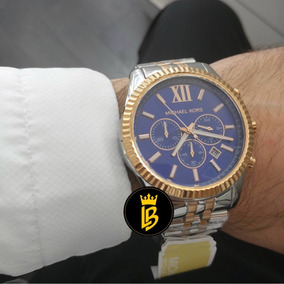 06fcef6fe7b1b Relógio Michael Kors Misto Rose Prata Mk 5163 Masculino - Relógios ...