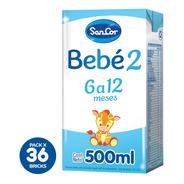 Leche Sancor Bebe 2  Nut. Comp. 500ml X 36 Uni