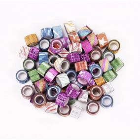45 Washi Tape Mini Glitter Scrapbook Sorriso Para Planner