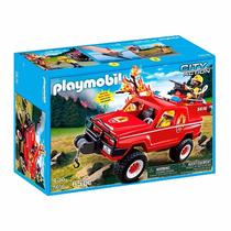Playmobil Jipe De Combate Ao Incêndio C/ Bomba D Agua - 5616