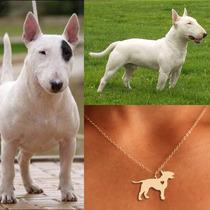 Collar De Perro Bullterrier Joyería Cadena Forma De Perro