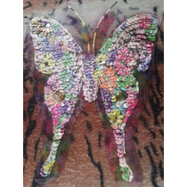 Aplique De Lentejuelas Mariposa Decoracion Remeras- Murga