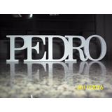 Letras Nome Em Madeira Mdf 12mm - Pintado -festa - Decoração