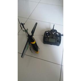 Helicoptero V912 Com Pilhas Recarregaveis No Radio Controle.