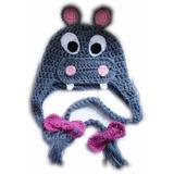 A Pedido Gorros Crochet Orejeras Trenzas Lana Animales