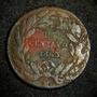 Moneda Un Centavo 1863 Variedad 3 Plano Cobre Republica