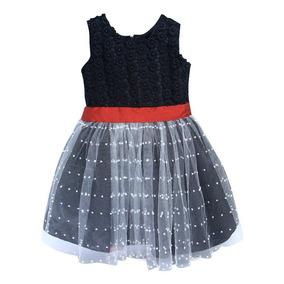 Vestido Festa Infantil Renda Babado Dama