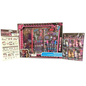 Monster High Lip Balm Set With Stationery Set And Tattoos Bu