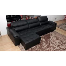 Sofa De Couro Retratil E Reclinavel 3 Mod. San Marino 2,90m