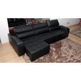 Sofa De Couro Retratil E Reclinavel 3 Mod. San Marino 2,60m