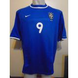 Camiseta Selección Brasil Nike 2000 2001 Suplente Ronaldo #9