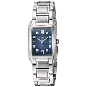 Bulova 96r211 Womens Analog Quartz Stainless Steel Diamond W