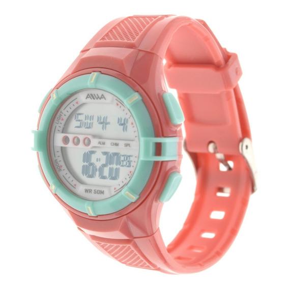 Reloj Mujer Aiwa Deportivo Digital Sumergible 5atm Adig012