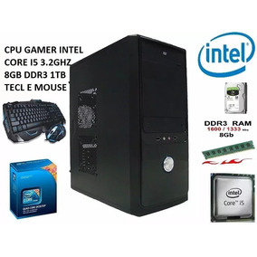 Cpu Gamer Computador Core I5 8gb 1tb Hd Kit Mouse E Teclado