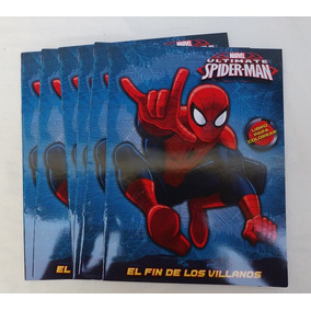10 Libros Para Colorear Spiderman 16 Pag Fiesta Hombre Araña