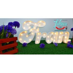 Letras Nombres Carteles Luminosos Polifan Candy Bar 4 Letras