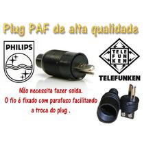 04 Plug Paf - Plug Philips , Telefunken ( 04 Peças )