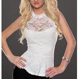 Blusa Peplum En Blonda Diseñosextrem2013
