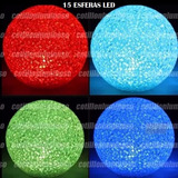 15 Esferas Velas Led Ideal Decorar Hogar Fanal Decoracion