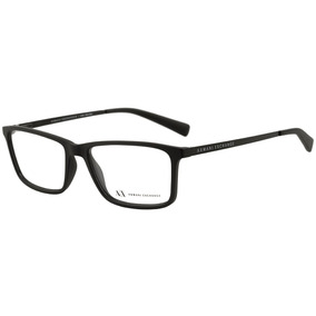 Armani Exchange Ax 3027 L - Óculos De Grau 8078 Preto Fosco