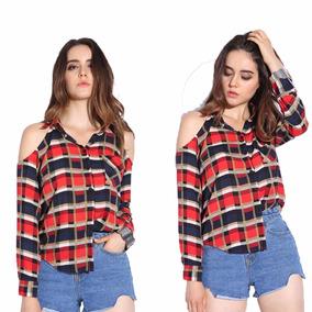Moda Japonesa Blusa Camiseta A Cuadros Moda Asiatica..
