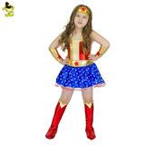 Disfraz Mujer Maravilla Wonder Women Girls Tallas 2-8-10
