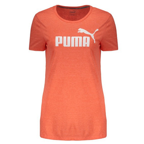 Camiseta Puma Essential No.1 Heather Feminina Laranja f4fcd784423