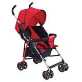 Carriola Para Bebe De Tijera Rojo Plus