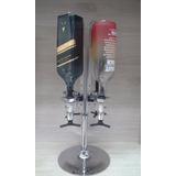 Dispensador Licor Ingles Giratorio 4 Botellas 35ml Cromada