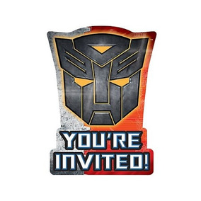 Transformers 3 - Invitaciones (8) Parte De Accesorios