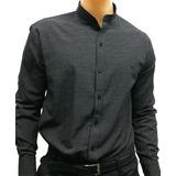 Camisas Cuello Mao Slim Fit Entallada Calce Perfecto Combin