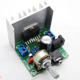 Módulo Amplificador Audio Estéreo De Dos Canales Tda7297