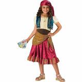Disfraz De Halloween De Niño De Niña Gitana. Talla S (8)