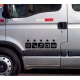 Adesivo Executivo Para Vans E Ônibus 3 Pares