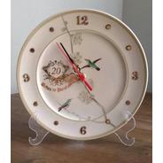 Relógio Passaros Bodas De Porcelana 20 Anos De Casamento