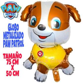 Globo Metalizado Fiesta Paw Patrol Perritos Disney Rubble