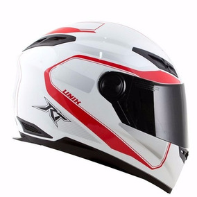 Capacete Race Tech Rt501 Evo Unik Branco/vermelho 56/58/60